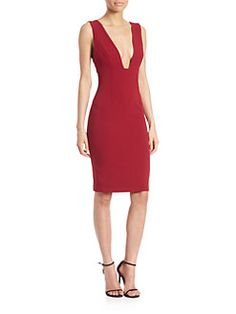 Alice + Olivia - Esmira Deep V-Neck Dress