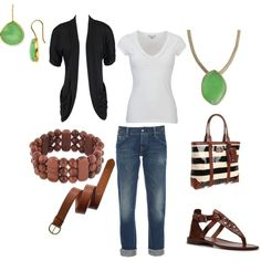 .classic 'cool-mom' outfit for spring...oh minus the beautiful jade jewelry... of course!