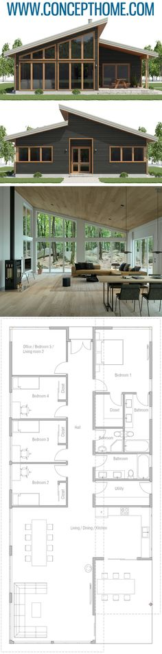 Small Home Plan Small House Plan, Small House Plans, House Designs Cabin House Plans, Dream House Plans, Modern House Plans, Small House Plans, House Floor Plans, House Plans And More, Metal Building Homes, Building A House, Plan Chalet
