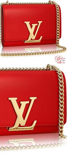 Brilliant Luxury by Emmy DE ♦ Louis Vuitton Chain Louise MM Bag
