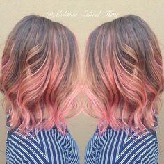 Peach balayage #peachhair See this Instagram photo by @melanie_scheel_hair • 36 likes