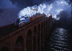 Royal Border Bridge / steam train