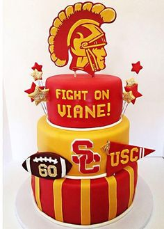 USC Trojans Football Graduation Cake