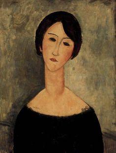 'portrait of a brunette' by amedeo modigliani Amedeo Modigliani, Modigliani Portraits, Modigliani Paintings, Italian Painters, Italian Artist, Art Moderne, Arte Pop, Henri Matisse, Claude Monet