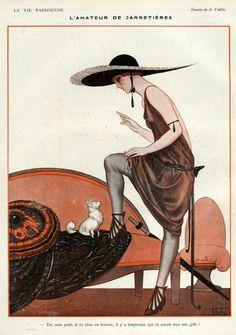 La Vie Parisienne, 1922, Art by A. Vallee