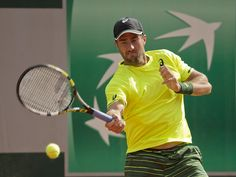 Steve Johnson (USA) in action during his match against Guillermo Garcia-Lopez (ESP).  Susan Mullane, USA TODAY Sports
