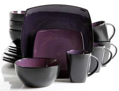 Gibson Home Purple Dinnerware at Lowe's. The Gibson Elite Soho Lounge Purple Dinnerware Set is an elegant collection that helps you set your table with style. This set features a