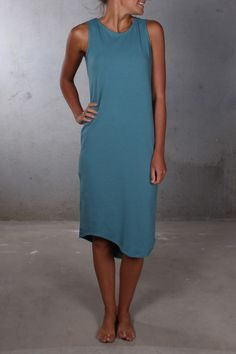 Silent Theory - One In Eight Midi Dress Teal