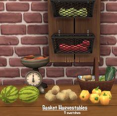 Balance et panier de légumes