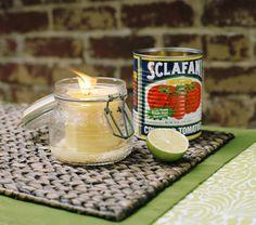 diy citronella candles.