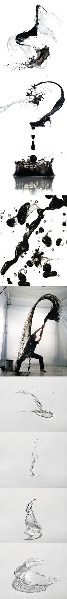 Shinichi Maruyama présente Water Sculptures et Kusho - Journal du Design Water Sculpture, Ink In Water, Web Design, Graphic Design, Shape Design, Doja Cat, Art Abstrait, Ink Painting, Art Plastique