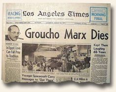 Image result for the death of comedian groucho marx