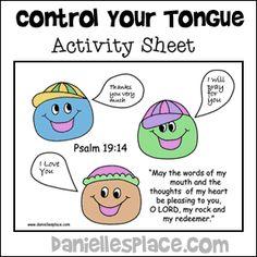 Tongue Worksheet Kindergarten