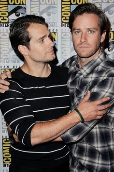 "amancanfly:  ""Henry Cavill and Armie Hammer at Comic-Con International 2015, San Diego Convention Center, 11th July 2015.  """