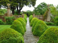 The Tintinhull Garden in England does a very effective job of framing a path