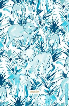 These adorable playful are part of a series of daily paintings where I combine two things I love – dancing and painting. Painting Patterns, Print Patterns, Elephant Background, Drawing Course, Blue Fruits, Wall Drawing, Colorful Drawings, Aesthetic Iphone Wallpaper, Indigo Blue