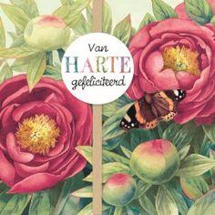 Marjolein Bastin kaart - marjolein-bastin-van-harte-gefeliciteerd-bloemen-vlinder