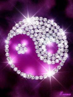 Purple Love, All Things Purple, Shades Of Purple, Gifs, Yin Yang, Live Wallpapers, Wallpaper Backgrounds, Iphone Wallpapers, Ying Yang Wallpaper