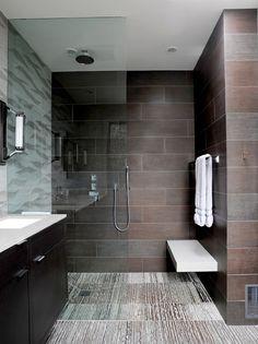 dark and masculine modern bathroom i love it!