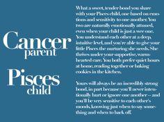 Cancer Parent Pisces Child