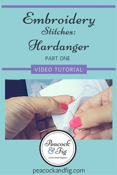 Ever wanted to know how to do hardanger embroidery? In this two-part video tutorial, follow along and see how to start working on a simple hardanger envelope!
