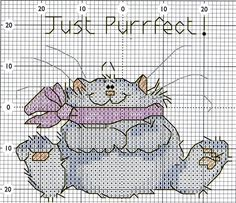 Cross-stitch Cat... no color chart available, just use the colors on pattern chart as your guide.