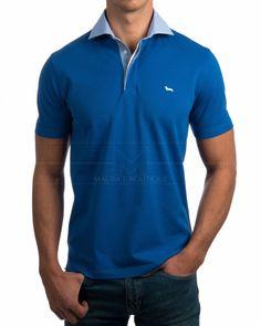 Polos Harmont & Blaine Azul - Cuello Camisero Fashion Styles, Men's Fashion, Men Wear, Polo T Shirts, African Fashion Dresses, Trends 2018, Ralph Lauren, Clothing, Mens Tops