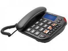 Telefone c/ Fio Intelbras Tok Fácil ID - com Identificador de Chamadas