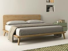 Oak double bed EASY by Dall'Agnese design Imago Design, Massimo Rosa Bedroom Furniture, Home Furniture, Furniture Design, Bedroom Decor, Bedding Decor, Bedding Sets, Oak Double Bed, Double Beds, Contemporary Bedroom