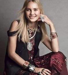 bohemian beauty fashion | Photographed by Patrick Demarchelier, Vogue Magazine