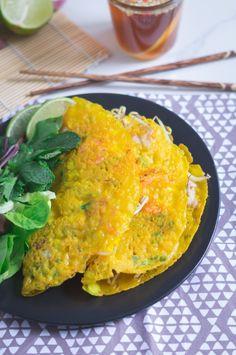 Banh Xeo - Vietnamese Pancakes / Vietnamesiche gefüllte Crêpes