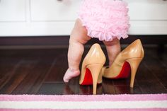"""precious baby photo idea, so save those louboutin's, """"Missy"""":) Baby Pictures, Baby Photos, Girl Photos, Cute Pictures, Children Photography, Family Photography, Fashion Photography, Cute Kids, Cute Babies"""