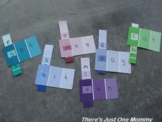 paint sample learning activities by There's Just One Mommy