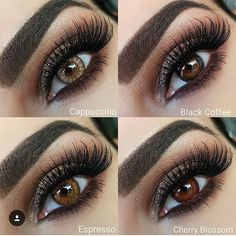 """2402985c62 Desio color contact Lenses on Instagram: """"New Desio Coffee Collection Model  is wearing : Cappuccino, Espresso, Black Coffee, Cherry Coffee THANKS TO ..."""