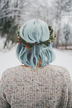 Looking for a surprising new hair color that's fit for any season? From blue pastel hair to cool shades of aqua, you'll love these light blue hair color ideas. Winter Hairstyles, Pretty Hairstyles, Scene Hairstyles, Glamorous Hairstyles, Christmas Hairstyles, Formal Hairstyles, Messy Hairstyles, Dye My Hair, New Hair