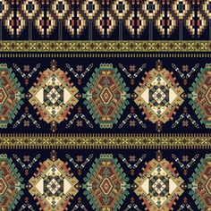 View Vintage Seamless Pattern, Ethnic Style Geometric Design by Tatyana Anisimova. Available in Vector, Seamless Repeat Royalty-Free. Bohemian Print, Bohemian Rug, Ethnic Patterns, Print Patterns, Ethnic Fashion, Textile Design, Royalty, Women Wear, Textiles