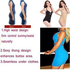 3eaedd73634 MissLoly Women HiWaist Shapewear Tummy Control Body Shaper Seamless Thigh  Slimming Butt Lifter   Find out