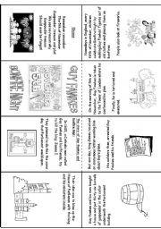 English worksheet: Guy Fawkes and Bonfire Night Mini Book