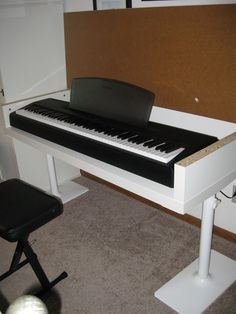 IKEA hack for storing keyboard. I would totally be doing this if we ever went down the piano lessons track.