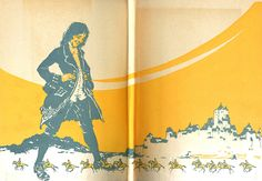 """Endsheet of """"Gulliver's travels"""" illustrated by Willy Pogány (1917)"""