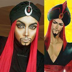 Aber wie sie Disney-Bösewichter angeht, ist vermutlich das Beste von allem: Sieh Dir nur Dschafar an! | Diese Frau benutzt ihren Hidschab und Make-up, um sich in