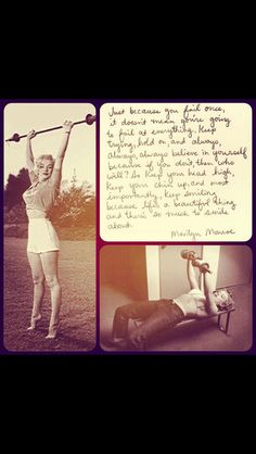 Marilyn Monroe Quote..Motivation!!! ;)