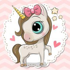 Cartoon Unicorn on a pink background. Cute Cartoon Unicorn with a bow on a pink background vector illustration Cartoon Cartoon, Disney Cartoon Characters, Cartoon Unicorn, Cute Cartoon Girl, Unicorn Art, Cute Unicorn, Share Pictures, Cute Pictures, Animal Drawings