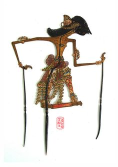 wayang kulit - Indonesian shadow puppet show. Puppet Show, Javanese, Shadow Puppets, Traditional Art, Old Things, Animation, Bali, Antiques, Leather