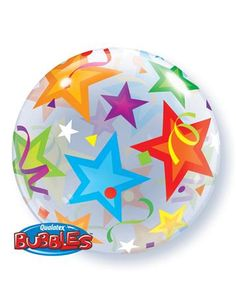 Buy Brilliant Stars Bubble Balloon from Tiger Feet Party. Brilliant Stars Bubble Balloon This bubble balloon is circle shaped with stars and Qualatex Balloons, Helium Filled Balloons, Bubble Balloons, Foil Balloons, Bubbles, Balloon Shop, The Balloon, Balloons Online, Bubble Birthday