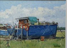 Old Boat Sunderland Point plein air Old Boats, Sunderland, Ocean, World, Water, Painting, Art, Gripe Water, Art Background