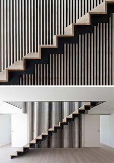 18 Examples Of Stair Details To Inspire You // These wood and black steel stairs almost create an optical illusion if you get too close! Home Stairs Design, Interior Stairs, Escalier Design, Casa Loft, Beton Design, Wooden Steps, Steel Stairs, Stair Detail, Concrete Stairs