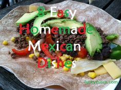 8 Easy Mexican Dishes for Cinco de Mayo! Quesadillas, fajitas, spicy bean dip, guacamole, refried beans, salsa, mango-pineapple salsa, 7 layer dip