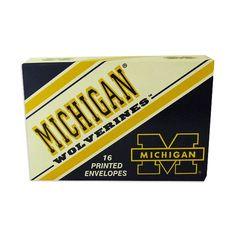 Michigan Wolverines Printed Envelopes
