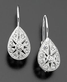 Eliot Danori Earrings, Crystal Accent Teardrop Leverback - Fashion Jewelry - Jewelry & Watches - Macy's